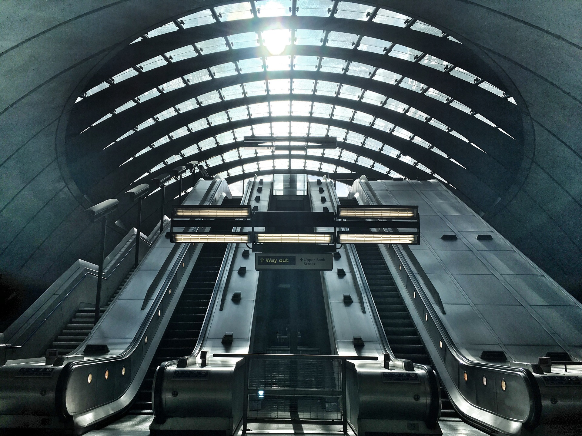 Canary Wharf tube station in London