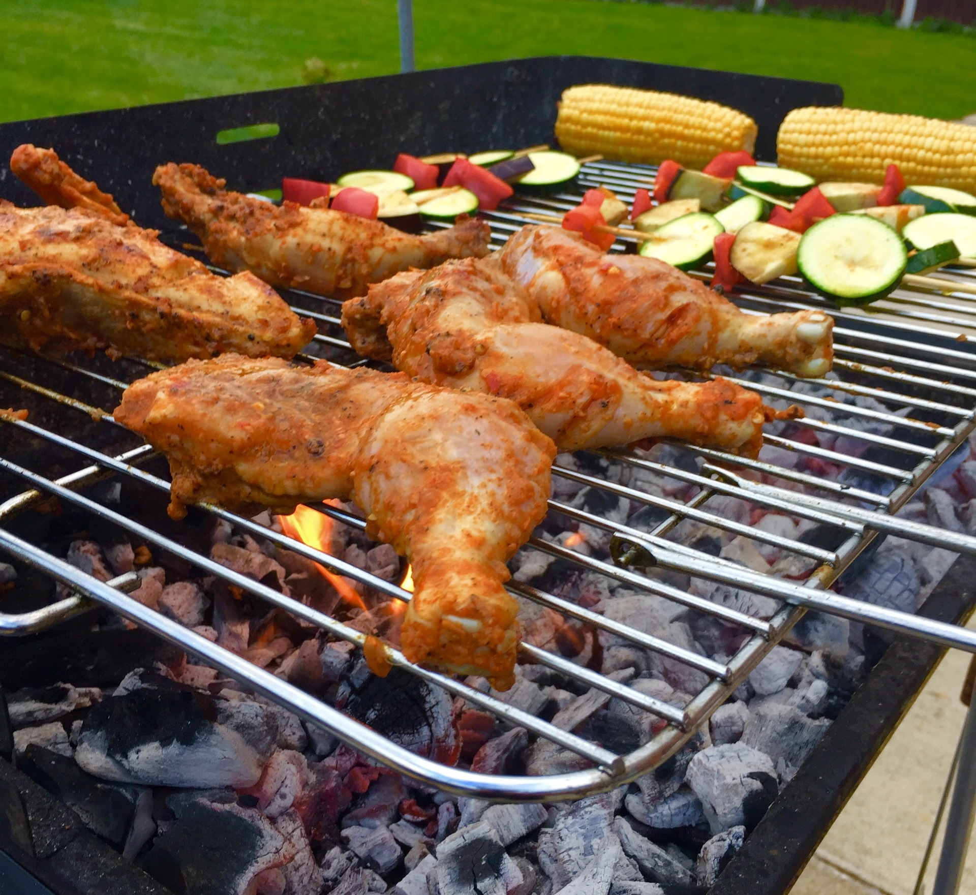 It's barbecue time  | banu11, charcoal, chicken, coal