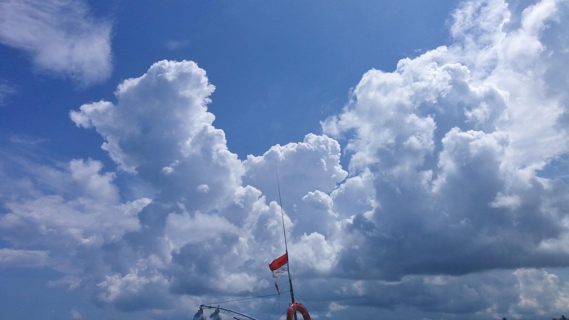 blue sky white clouds | cahyo05, no person, landscape, cloud