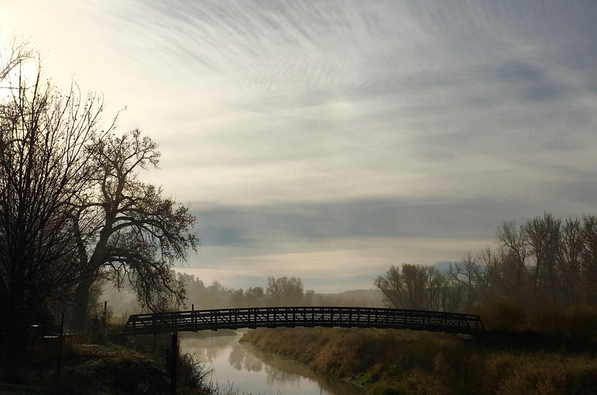 Bridge over river | bridge, connection, stream, nature