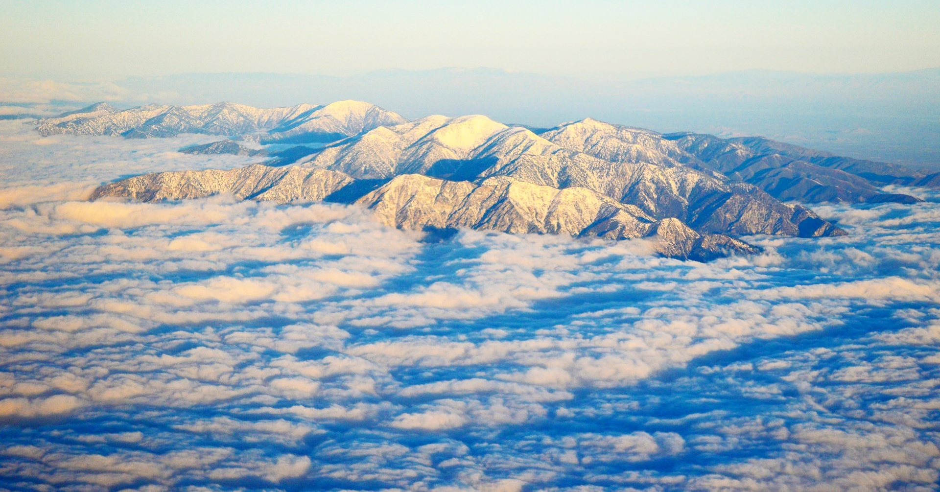 cloud island. mountain above the clouds