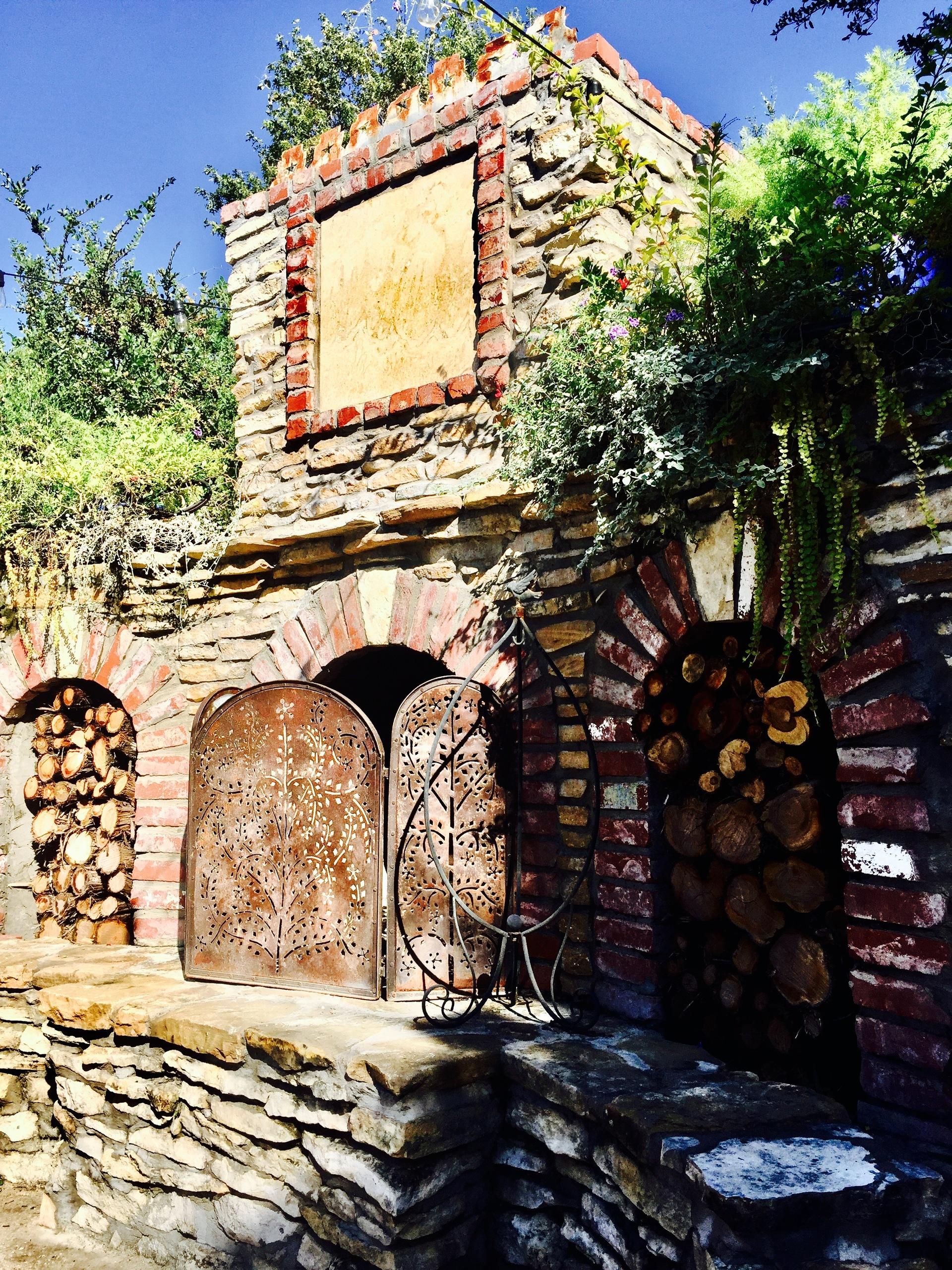 Outdoor brick fireplace  | laurelpcross, antique, architecture, building
