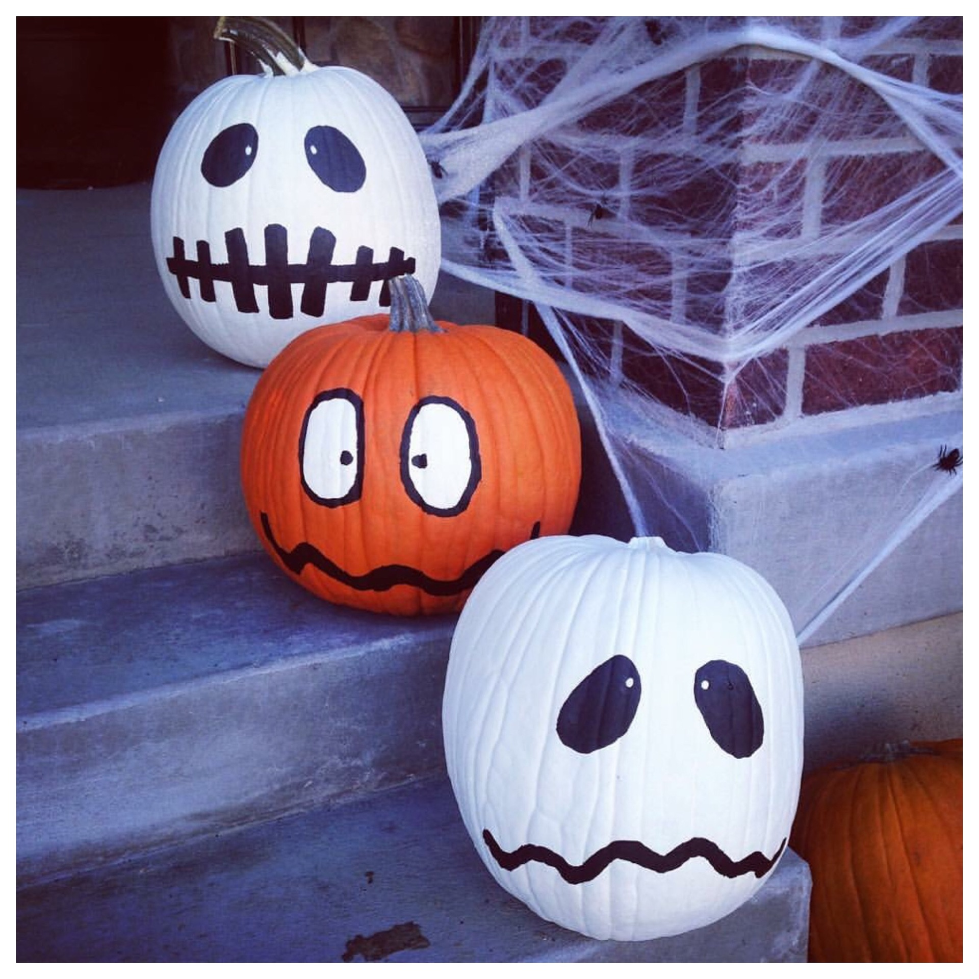 Each year me and my boys paint pumpkins together. It has become a fun tradition