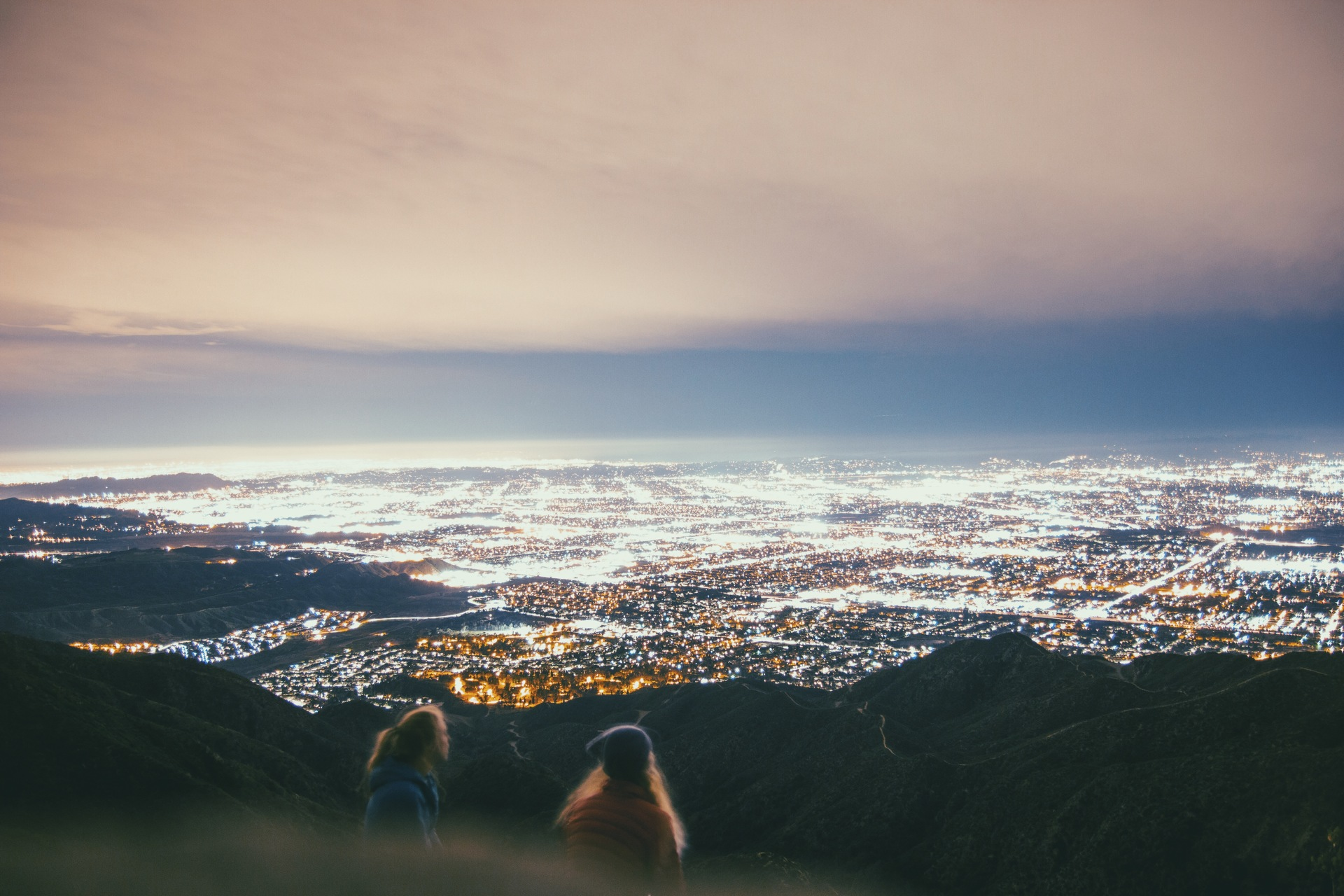 Los Angeles   davidpenna313, city, dusk, mountain