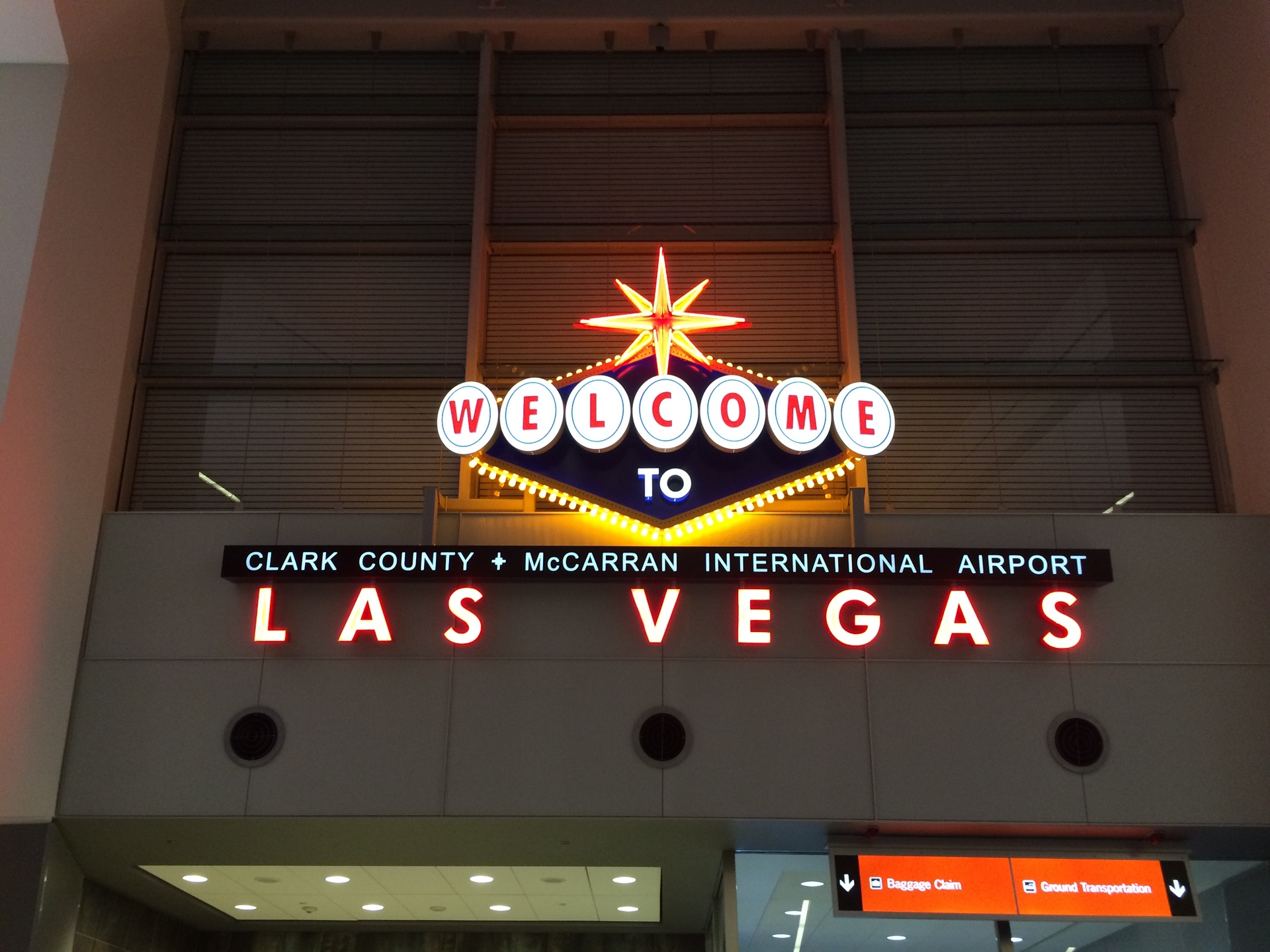 Welcome to Las Vegas airport sign