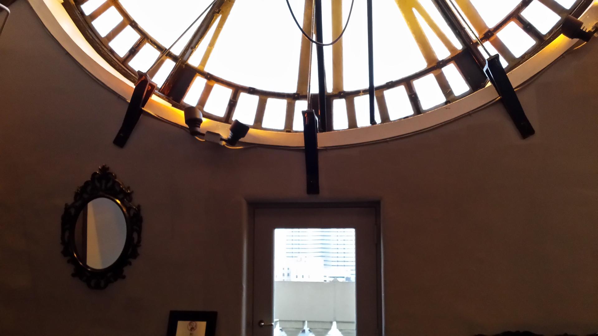 Bottom of Clock. Inside the clock tower in Denver