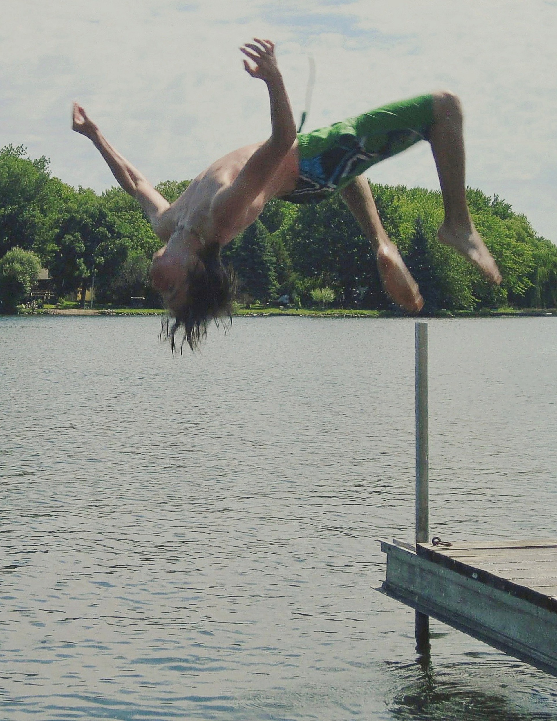 backflips in lake chemong | legere3afc, action, adult, balance