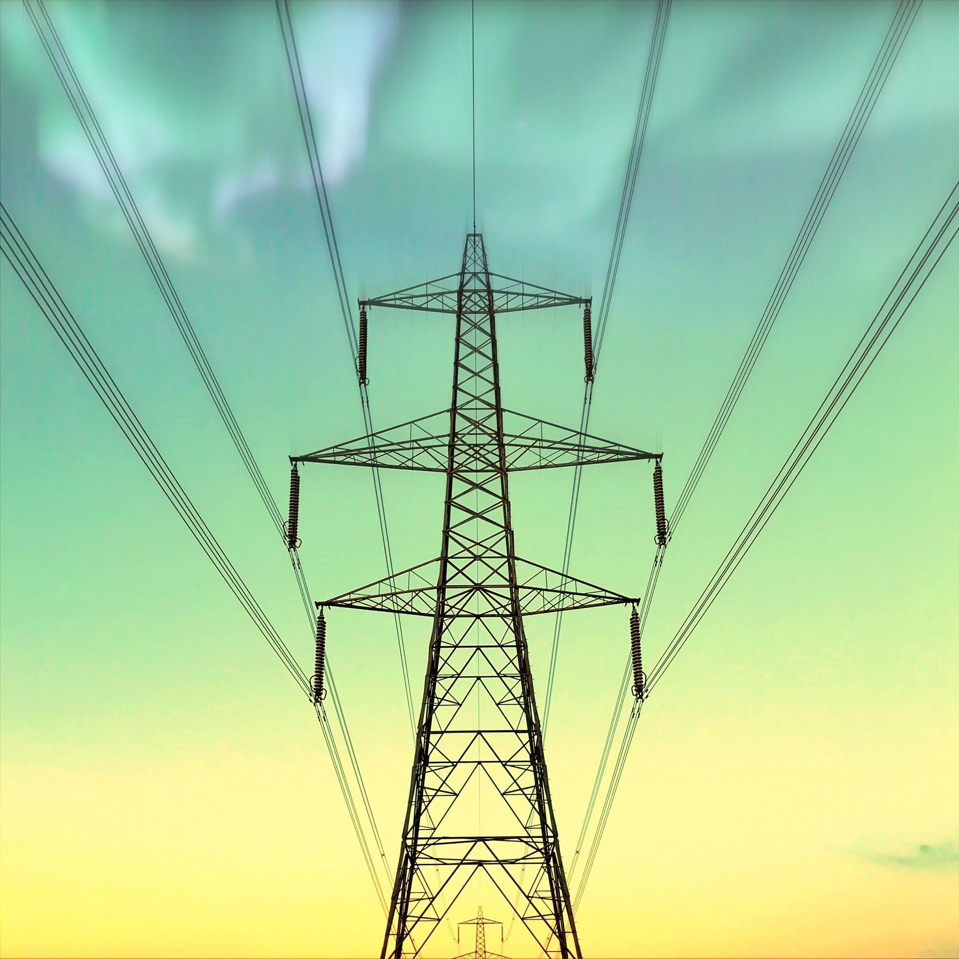Pylon abstract    no person, energetic, grid, generator