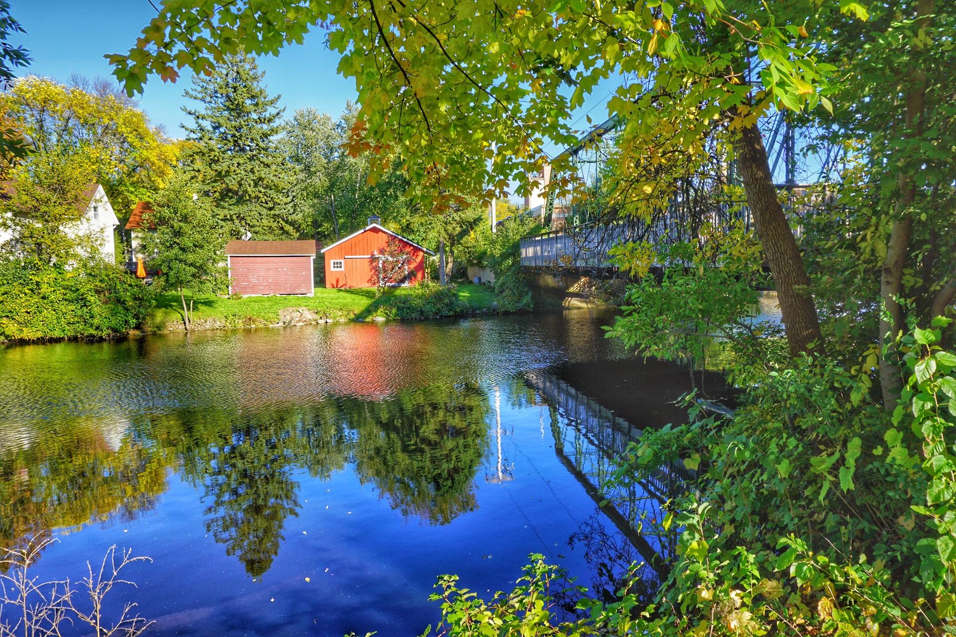 Autumn Reflections | tree, travel, scenic, reflection
