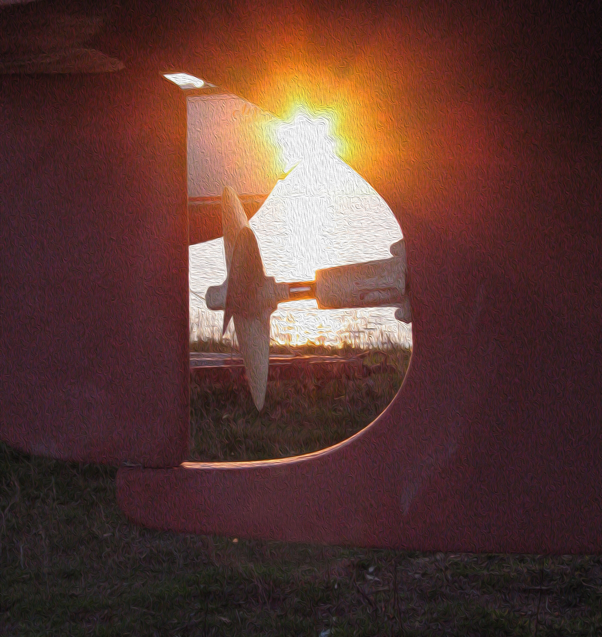 people | sunset, sun, one, landscape