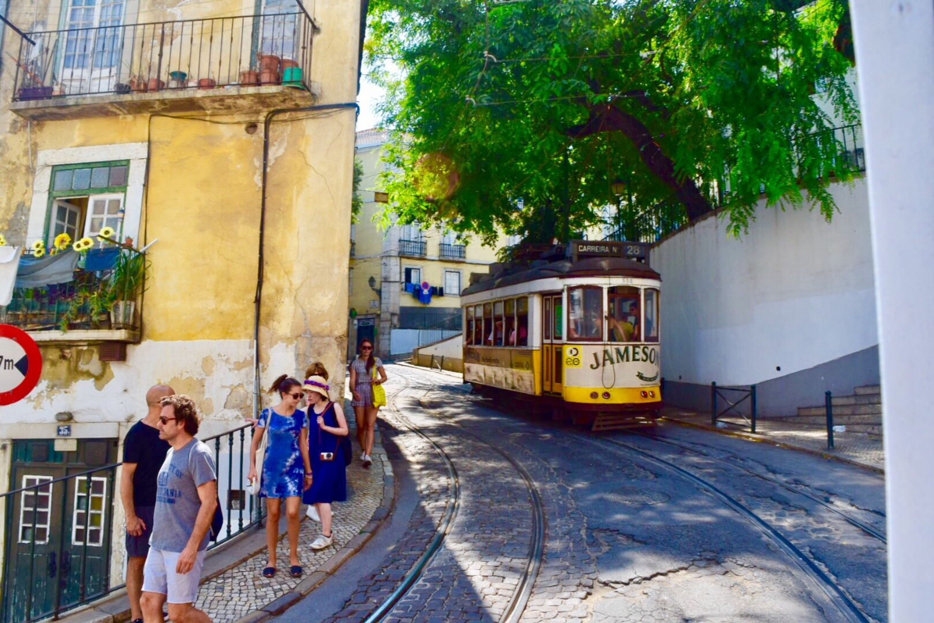 Urban streets of Lisbon