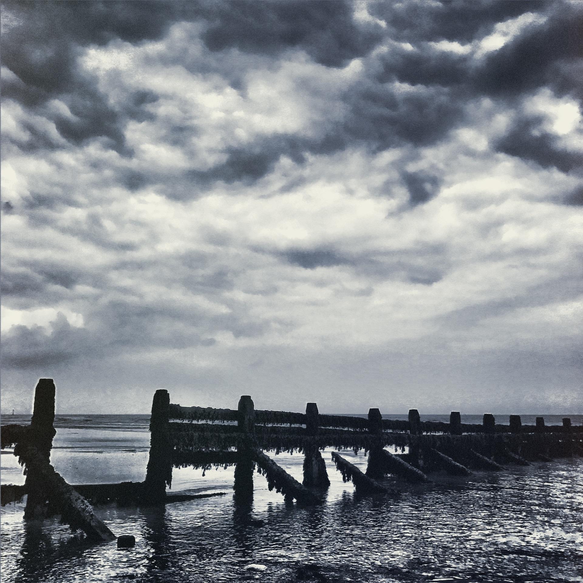 Coastal defences   mezmic, water, sunset, beach