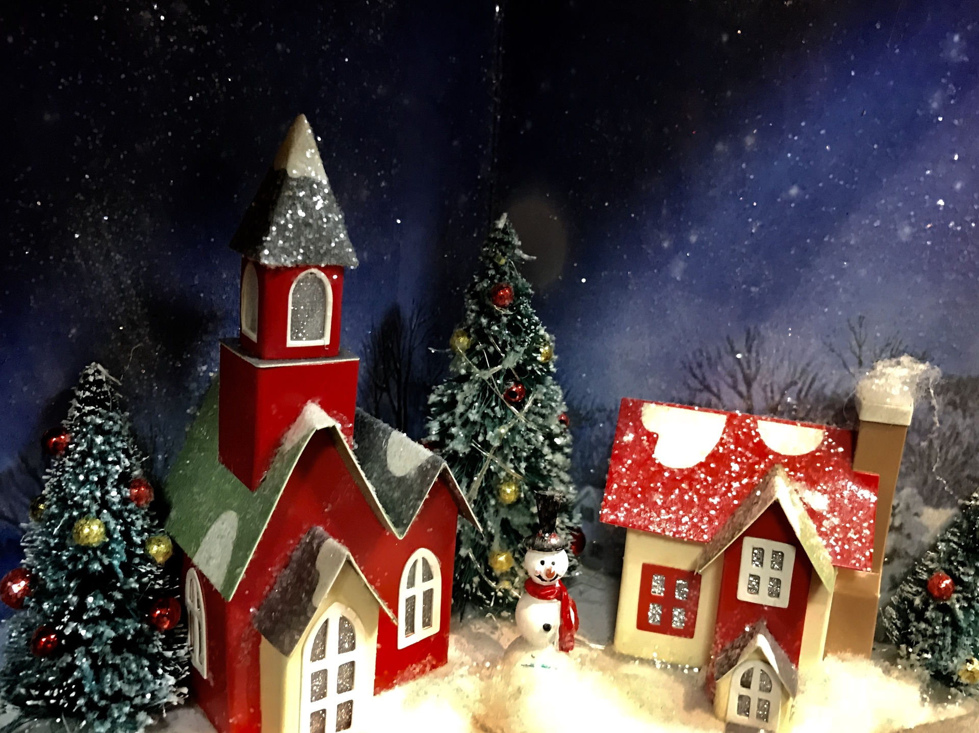 Christmas Village 2 | willowcatdesigns, winter, christmas tree, snow