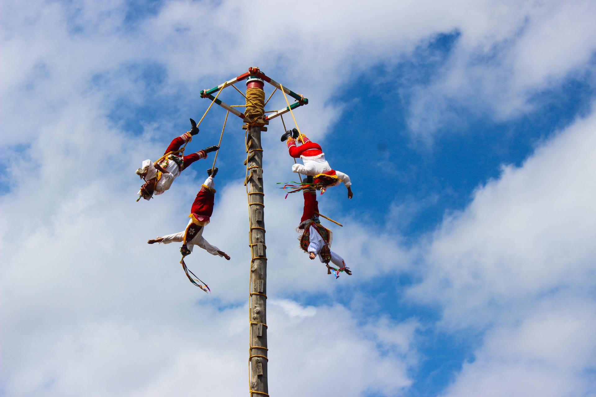 Voladores de Papantla | action, cloud, energy, travel