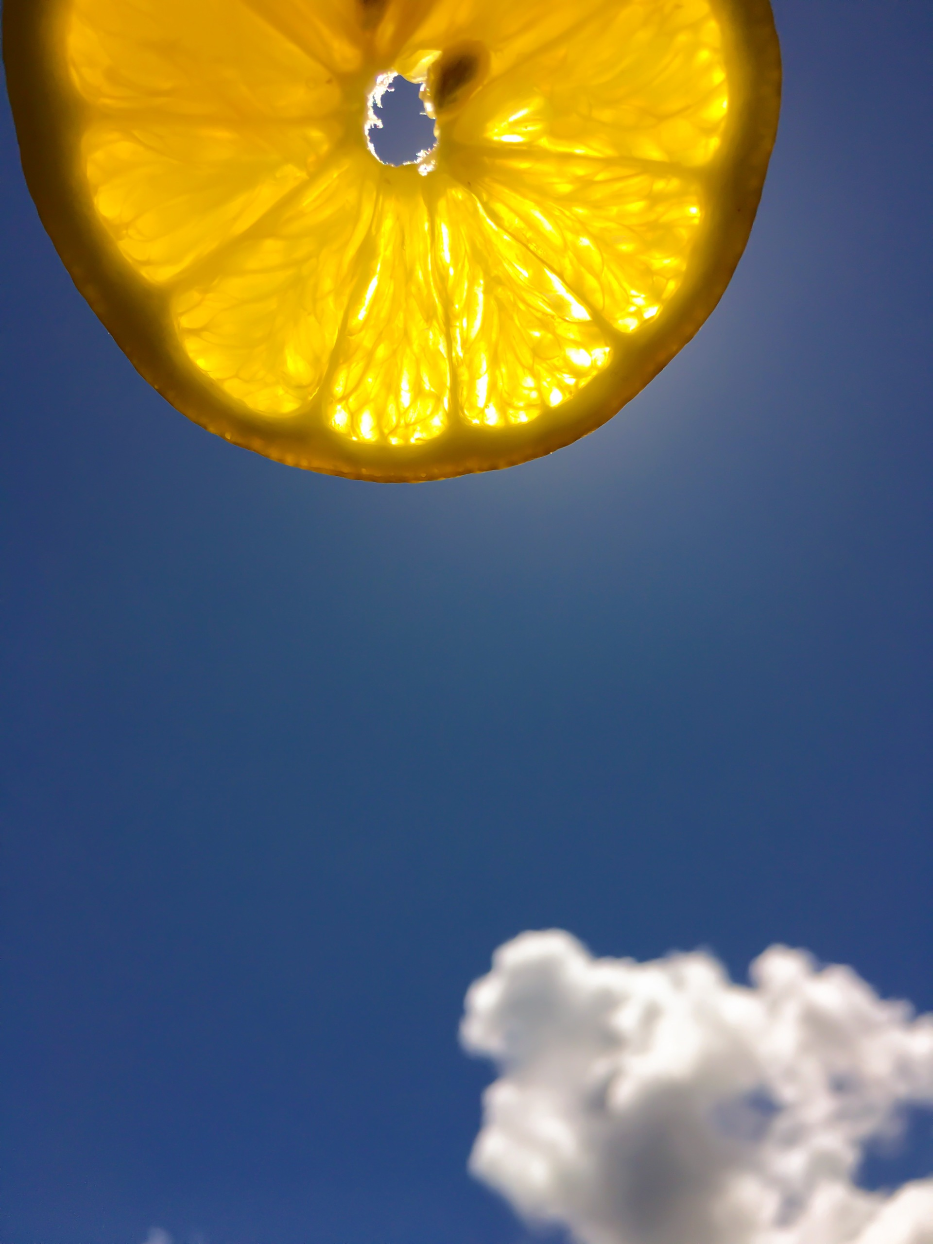 Clear Summer lemon sky | sun, summer, outdoors, nature