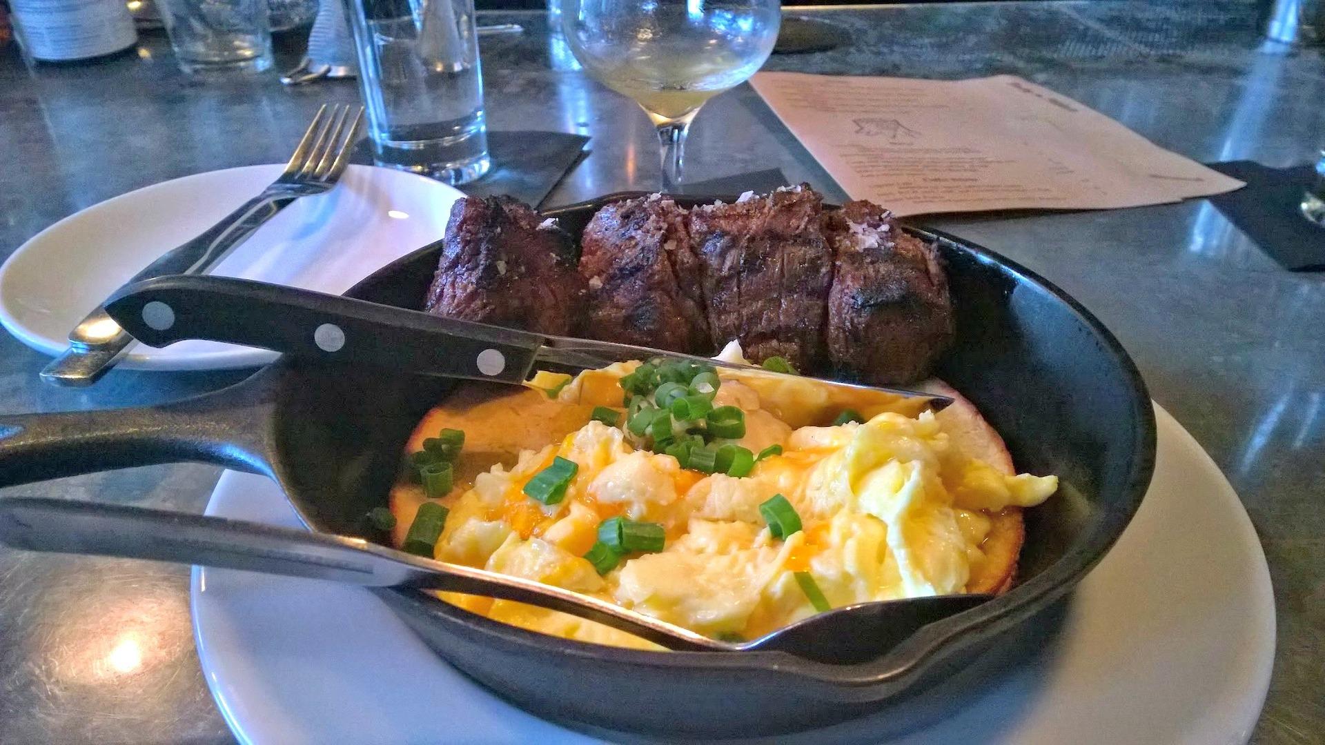 Tasty Steak & Cheddar Eggs, Tasty  Alder. Portland, OR