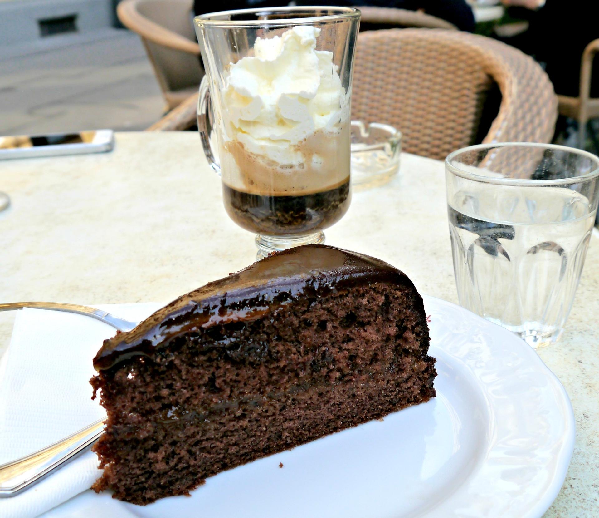 Sacher Torte from Cafe Sperl. Vienna, Austria. September 2015