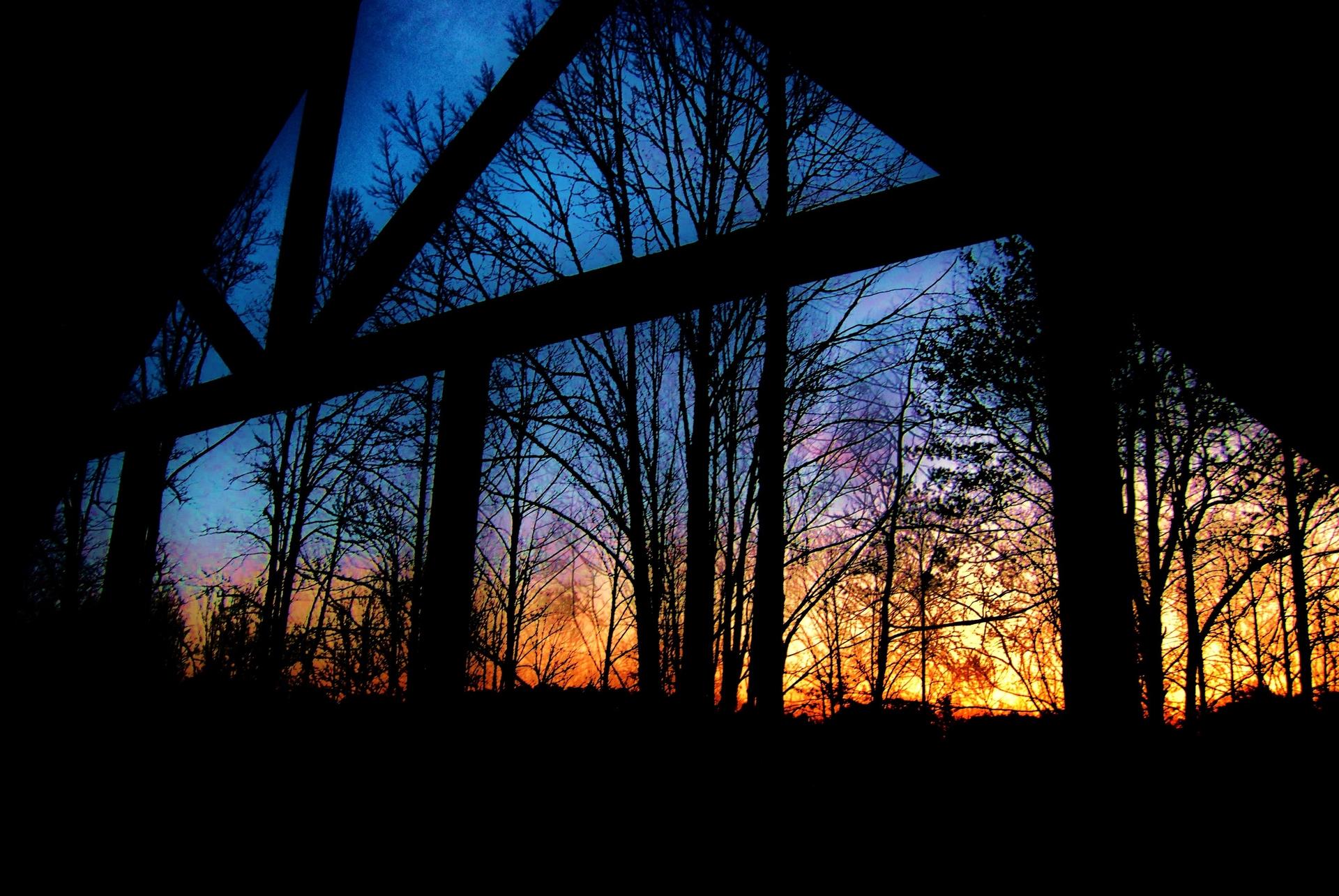 Sunset | ellijay, backlit, dark, evening
