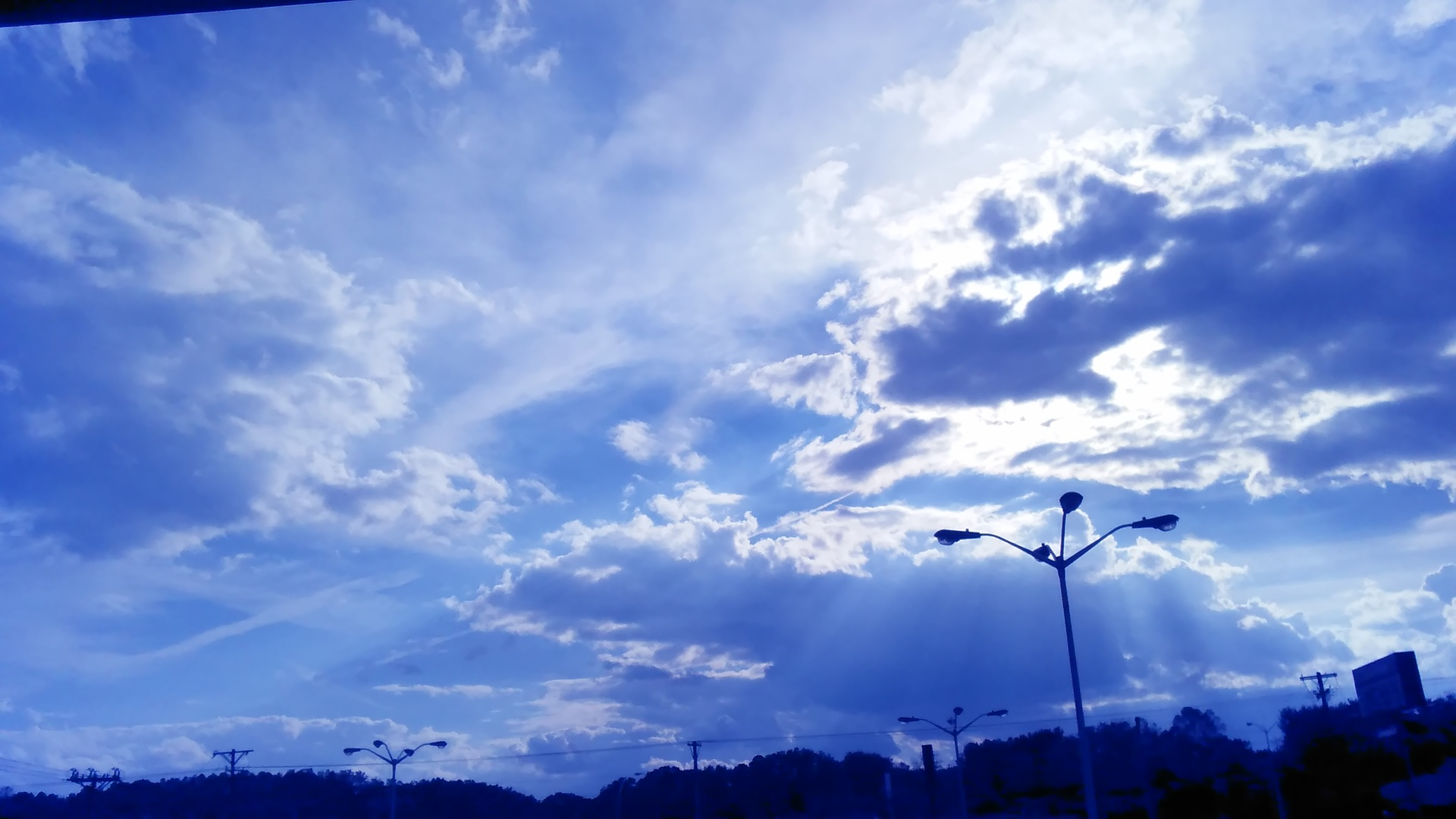 Sky over parking lot | codenamesailorearth, background, cloud, energy