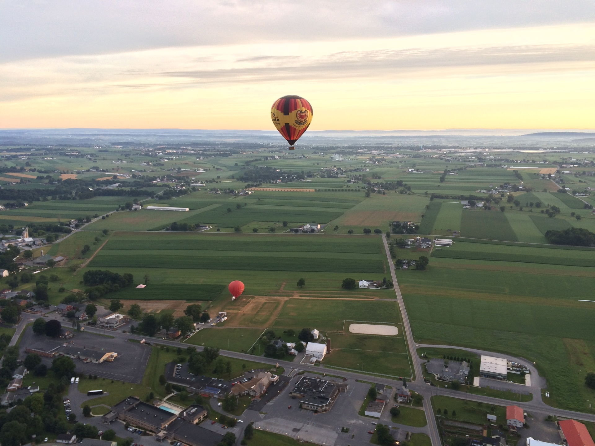 Aerial view of landscape   city, outdoors, sky, travel