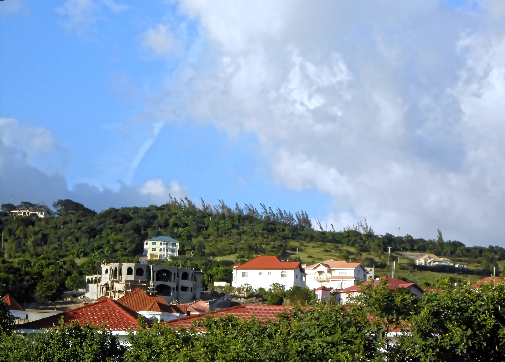 Houses on Hill | jacquelin, landscape, house, hill