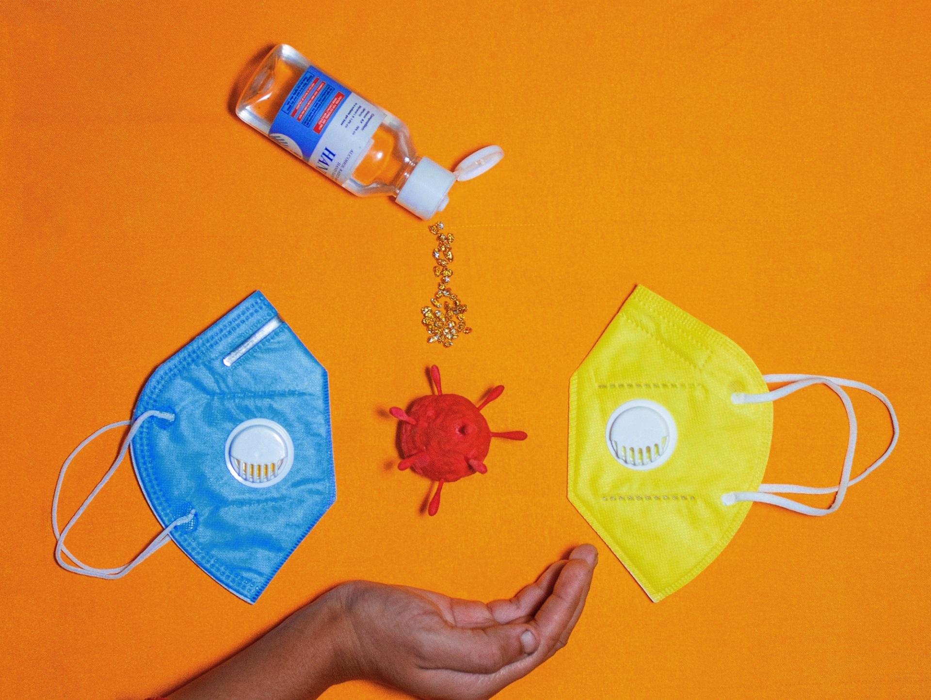 Masks on example photo