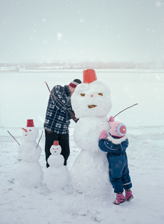 Winter with friends example photo